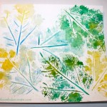 Watercolor leaf print