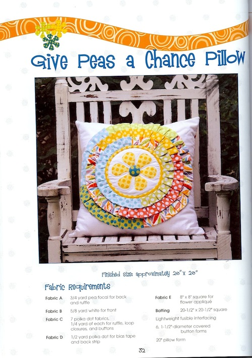 Give Peas a Chance Pillow