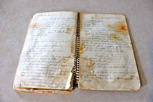 Pages from Mom's Recipe binder