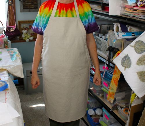 My canvas drop cloth apron before sunpainting