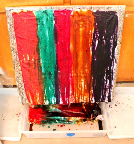 Stand and Pour Fabric Dyeing