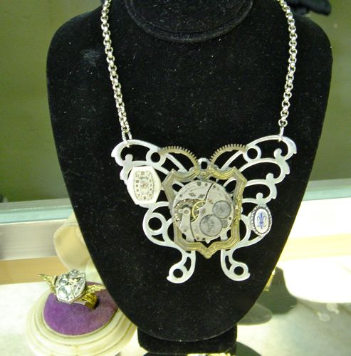 Butterfly steampunk necklace