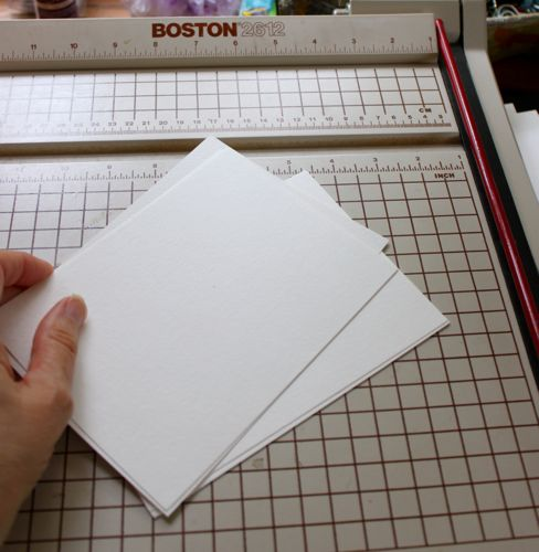 Cut paper for inside pages for ribbon bound journal