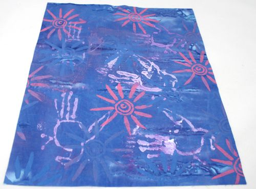 Thermofax screen printed fabric