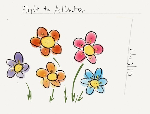 Flight to Atlanta Ipad Art