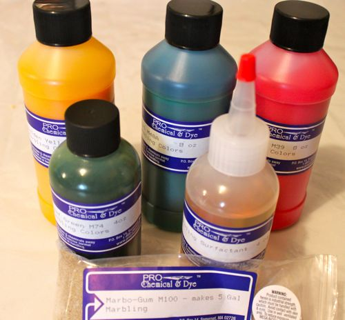 Pro Marbling Paints and Marbo Gum