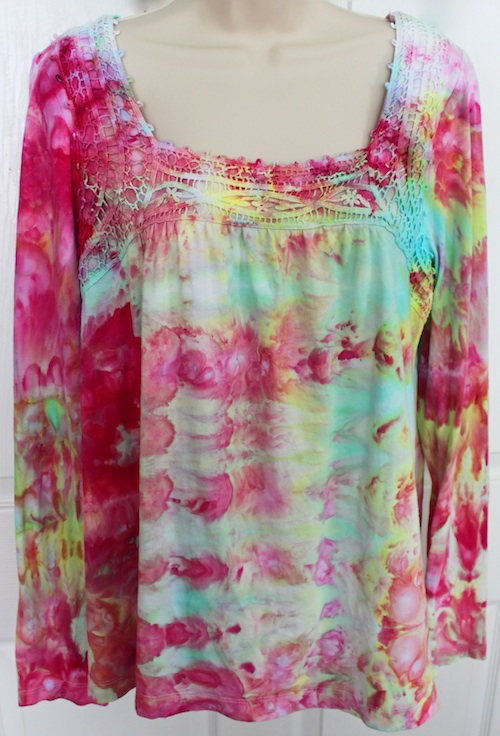 Ice dyed top