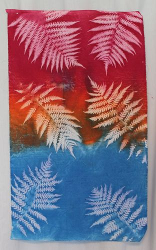 Fern sun printed fabric