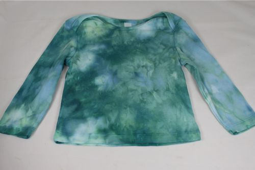 Ice dyed long sleeve 12-18 month tshirt