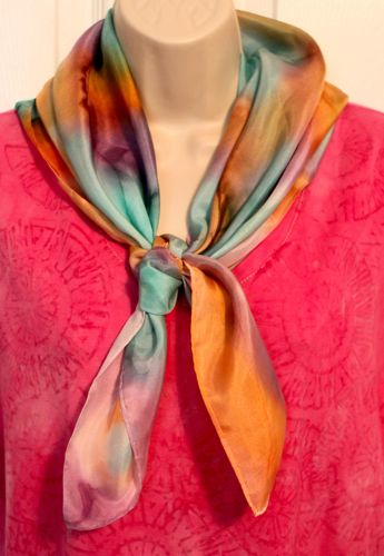 My first painted silk scarf