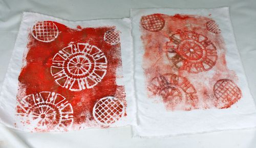 Gelli plate two prints
