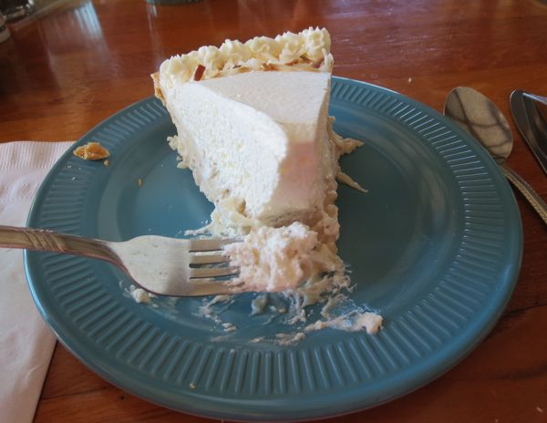 Coconut Creme Pie at Coffee Shack