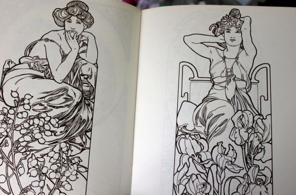 Mucha coloring book