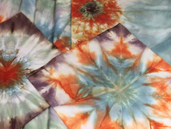 tie dyed pieces