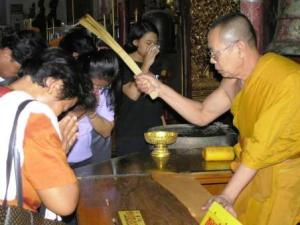 Buddhist Monk Blessing