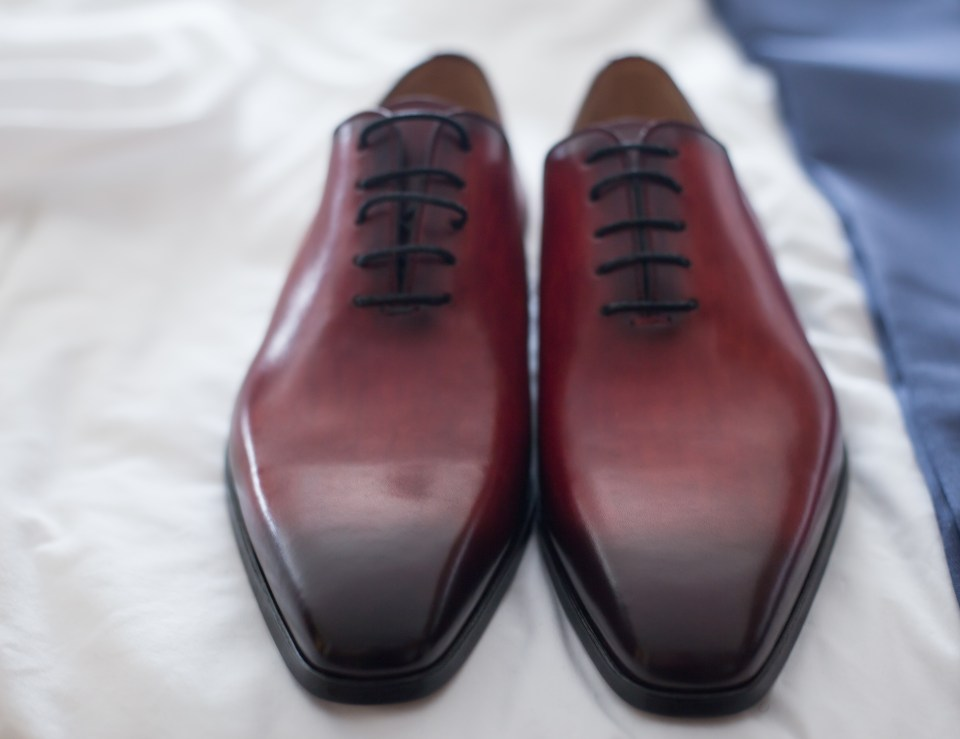 Groom's shoes for her Yale Divinity Chapel Wedding