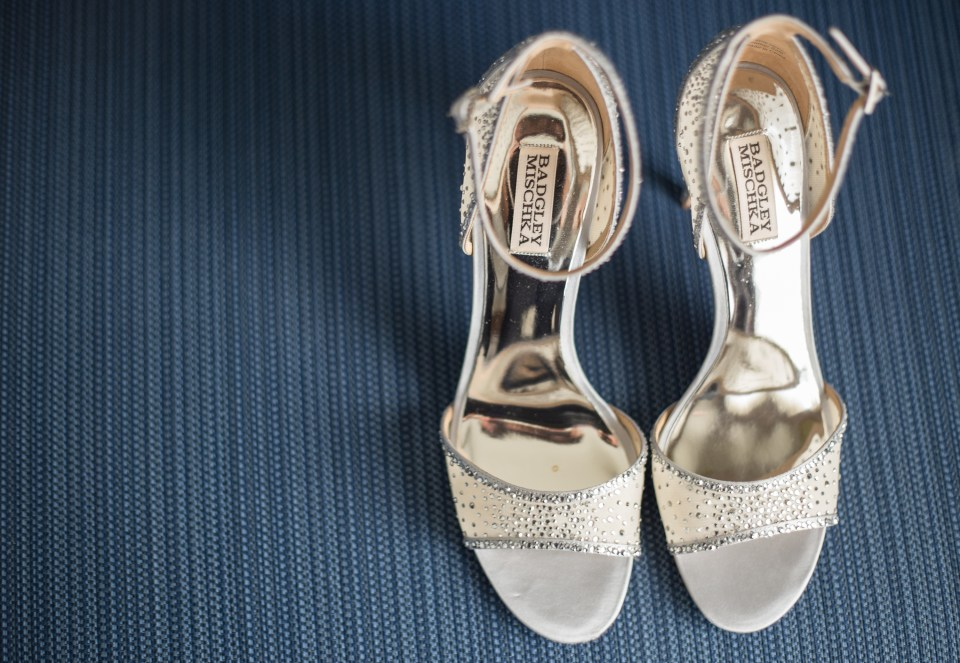 Bride's shoes for her Yale Divinity Chapel Wedding