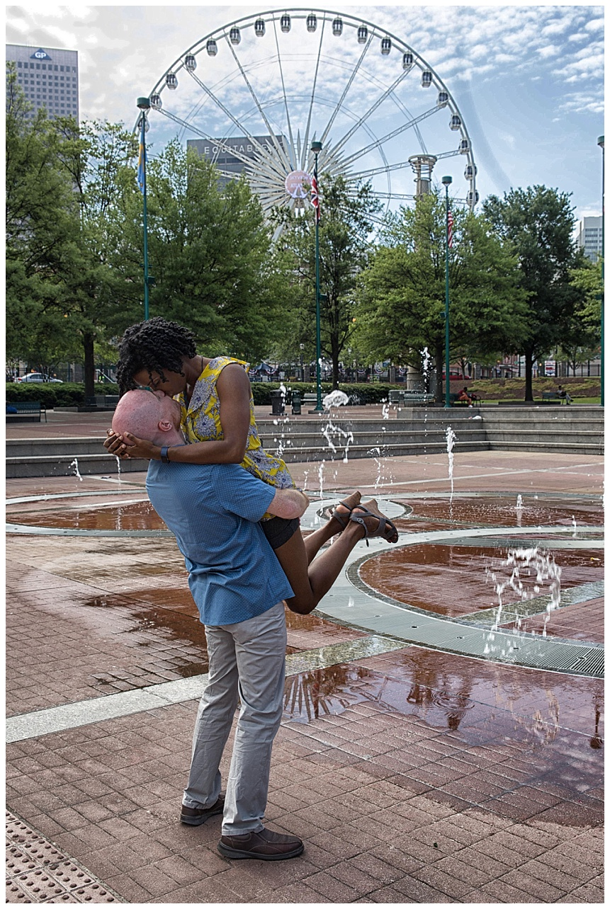 Centennial Olympic Park Couple Session