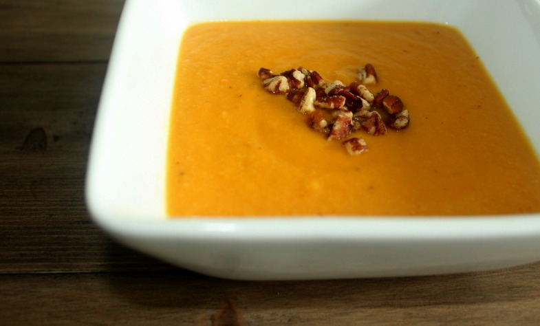 Roasted Sweet Potato Cauliflower Soup