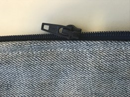 I also topstitched the zipper to keep the zipper in place.