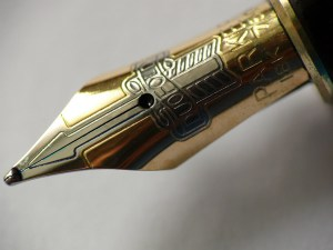 Image of the nib of a fountain pen for My Manifesto by Lynette M. Burrows