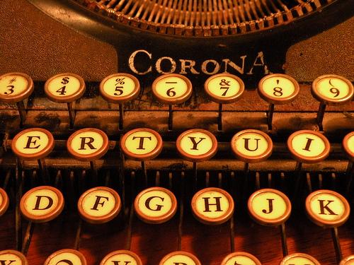 Old Fashioned Typewriter Keys