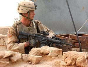 US Army soldier on duty