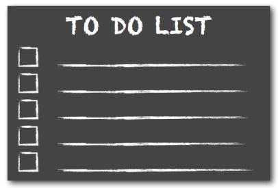 To Do List Chalkboard, post by Lynette M Burrows