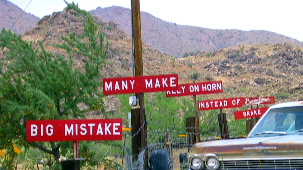Burma Shave signs, 9 things rarely seen today, Lynette M Burrows