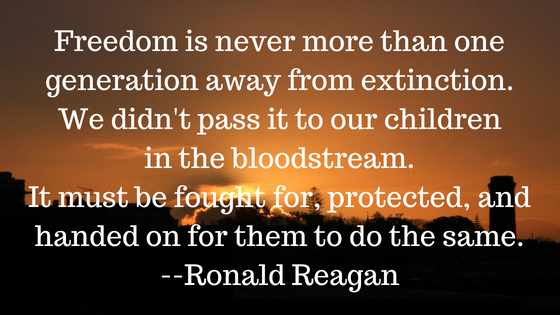 Freedom is near extinction. Are you underestimating the value of freedom?