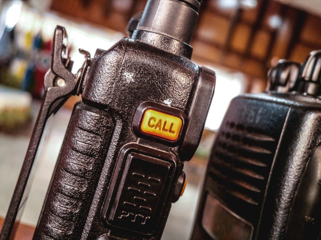 Image of a call button for a walkie talkie for my outtake from Fellowship and a lesson