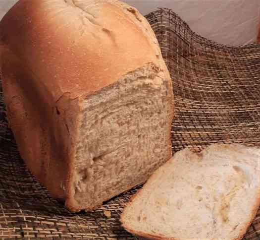 A slice of freshly made bread.