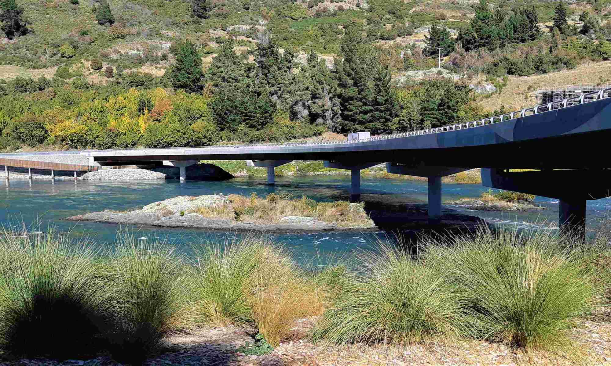 The new Kawarau Falls bridge.