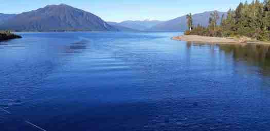 Deep blue Lake Brunner.