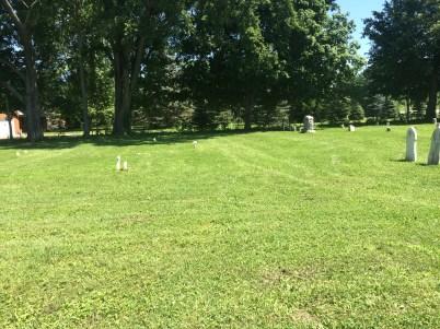 Area of Weesner burials