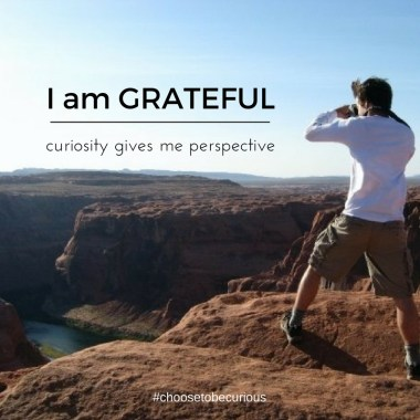 Gratitude Thanksgiving inspired me to devote a week to focusing on the reasons to be grateful for all that curiosity offers. What inspires your gratitude?