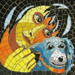 mosaics created to be imbedded into the Dell Children's Medical Center therapy dog wall