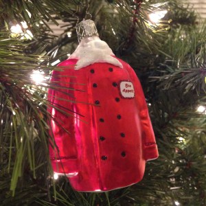 chef's jacket ornament