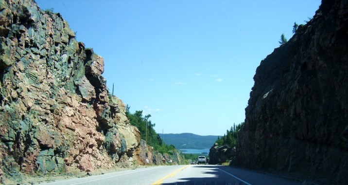 Rock cut on the Trans Canada, northern Ontario