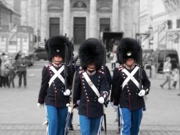 changing of guard at royal palace Copenhagen