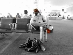 passengers in airport lounge Toronto
