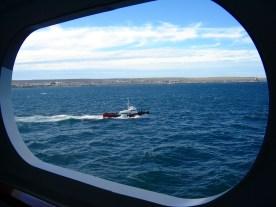 Pilot boat off the Falkland Islands
