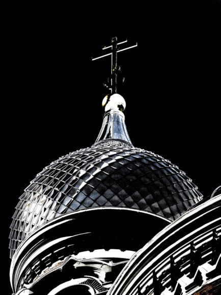 dome and cross of church