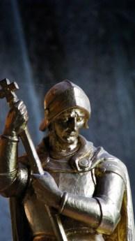 statue in church in Devon