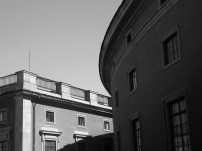 black and white architecture in Stockholm