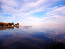 The shore of South Glengarry meets the St. Lawrence River at Lake St. Francis - Canada