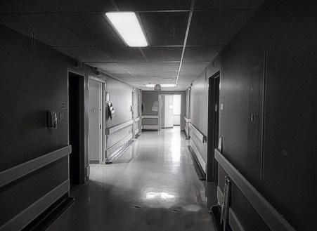 Hospital corridor, Cornwall Ontario