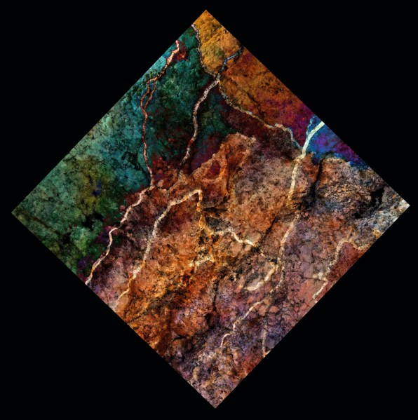 "Digital art printed on aluminum panel. ""Texture Art #15"" 8x8"" $95 value"