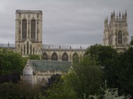 York Minster seen from the mediaeval wall