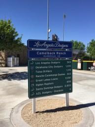 Dodger Sign, Camelback Ranch